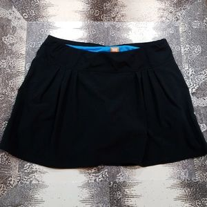 Lucy Tech Black Running Skirt with Shorts